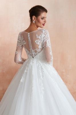 Modern Brautkleid Mit Ärmel   Standesamt Kleid Hochzeitskleider_8