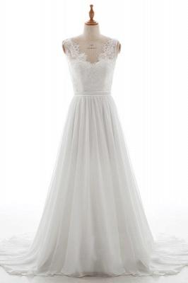 Schlichte Brautkleid mit Spitze | Hochzeitskleid A Linie_1