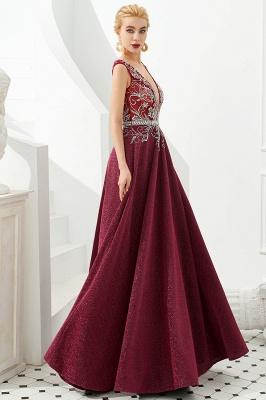 Schlichte Abendkleider Lang Rot | Abiballkleider Online_7
