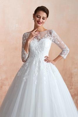 Modern Brautkleid Mit Ärmel   Standesamt Kleid Hochzeitskleider_6