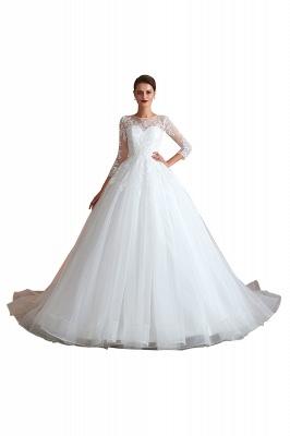 Modern Brautkleid Mit Ärmel   Standesamt Kleid Hochzeitskleider_1