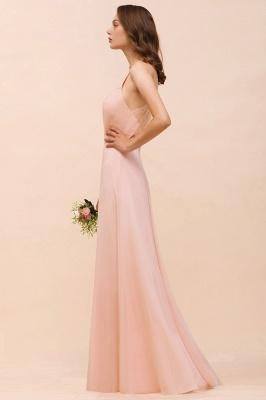 Schöne Brautjungfernkleider Lang Rosa | Hochzeitspartykleider Günstig_7