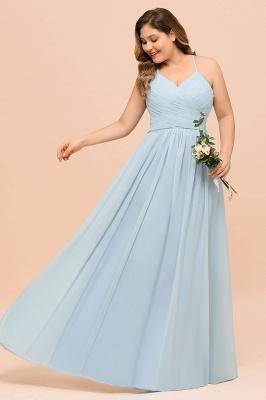 Brautjungfernkleider Große Größe   Brautjungfernkleid Lang Heller Blau_7