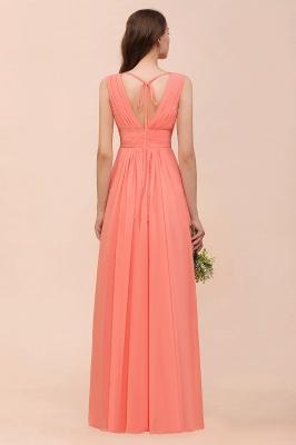 Orange Brautjungfernkleider | Hochzeitspartykleider Lang Günstig_3