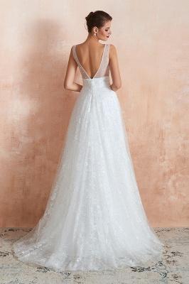 Schöne Hochzeitskleider A linie | Standesamt Brautkleid Tüll_6