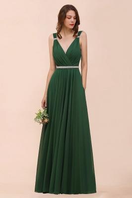 Grüne Brautjungfernkleider Günstig | Chiffon Kleider Abendmoden Lang_5