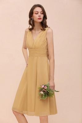 Brautjungfernkleider Gold | Kurzes Brautjungfernkleid Günstig_8