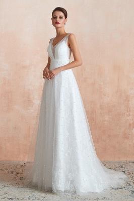 Schöne Hochzeitskleider A linie | Standesamt Brautkleid Tüll_4