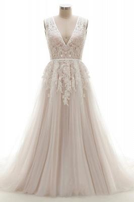 Brautkleider A Linie V Ausschnitt | hochzeitskleid standesamt_1