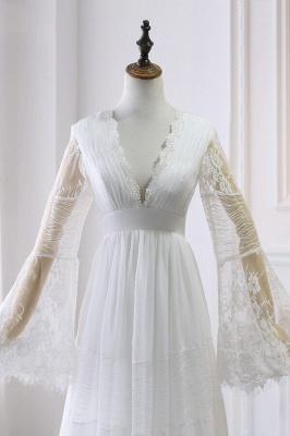 Elegante Hochzeitskleider mit Ärmel | Brautkleid Spitze Online_4