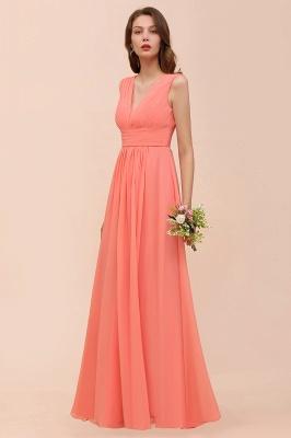 Orange Brautjungfernkleider | Hochzeitspartykleider Lang Günstig_5