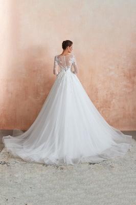 Modern Brautkleid Mit Ärmel   Standesamt Kleid Hochzeitskleider_12