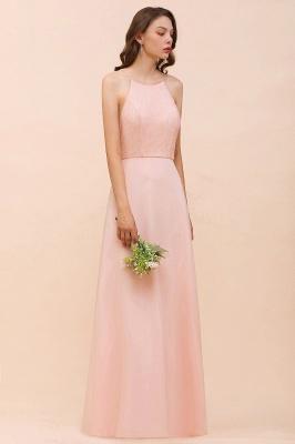Schöne Brautjungfernkleider Lang Rosa | Hochzeitspartykleider Günstig_5