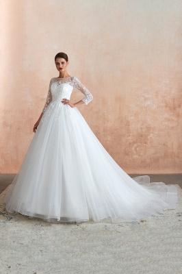 Modern Brautkleid Mit Ärmel   Standesamt Kleid Hochzeitskleider_10