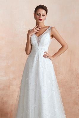 Schöne Hochzeitskleider A linie | Standesamt Brautkleid Tüll_7