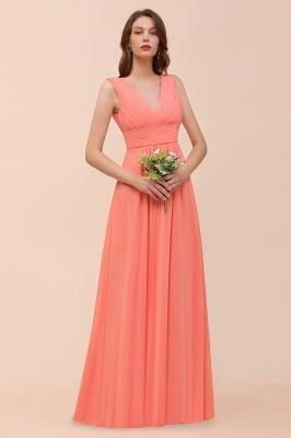 Orange Brautjungfernkleider | Hochzeitspartykleider Lang Günstig_7