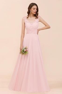 Elegante Brautjungfernkleider Lang Rosa | Hochzeitspartykleider Online_6