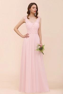 Elegante Brautjungfernkleider Lang Rosa | Hochzeitspartykleider Online_7