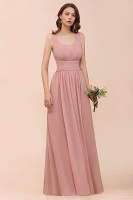 Brautjungfernkleider Lang Altrosa | Chiffon Hochzeitspartykleider_4