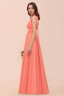 Orange Brautjungfernkleider | Hochzeitspartykleider Lang Günstig_8