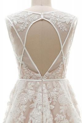 Brautkleider A Linie V Ausschnitt | hochzeitskleid standesamt_5