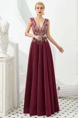 Schlichte Abendkleider Lang Rot | Abiballkleider Online_2