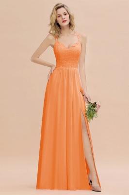 Abendkleider Lang Orange   Brautjungfernkleider Günstig_15