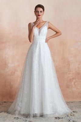 Schöne Hochzeitskleider A linie | Standesamt Brautkleid Tüll_2