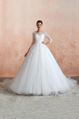 Modern Brautkleid Mit Ärmel   Standesamt Kleid Hochzeitskleider_2