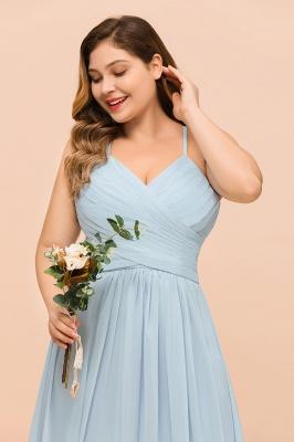 Brautjungfernkleider Große Größe   Brautjungfernkleid Lang Heller Blau_9