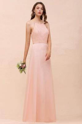 Schöne Brautjungfernkleider Lang Rosa | Hochzeitspartykleider Günstig_9