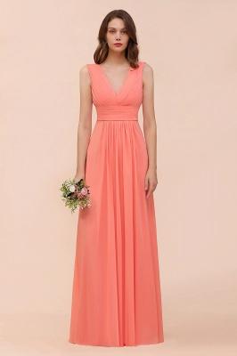 Orange Brautjungfernkleider | Hochzeitspartykleider Lang Günstig_4