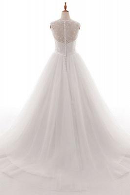 Weiße Brautkleid A Linie | Hochzeitskleider Mit Spitze_3
