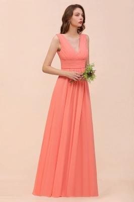 Orange Brautjungfernkleider | Hochzeitspartykleider Lang Günstig_9
