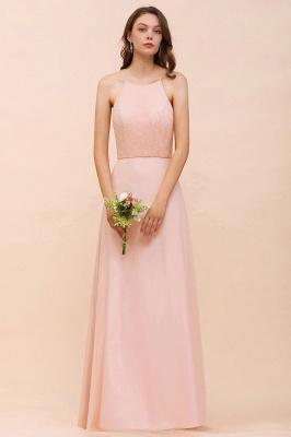 Schöne Brautjungfernkleider Lang Rosa | Hochzeitspartykleider Günstig_1