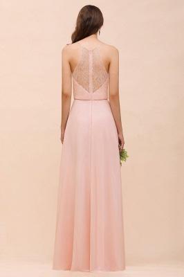 Schöne Brautjungfernkleider Lang Rosa | Hochzeitspartykleider Günstig_3