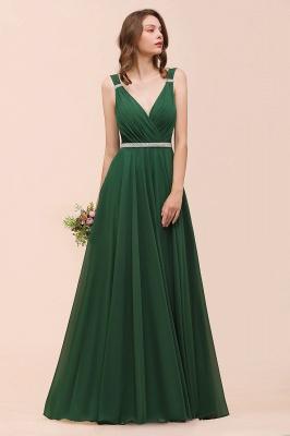Grüne Brautjungfernkleider Günstig | Chiffon Kleider Abendmoden Lang_8