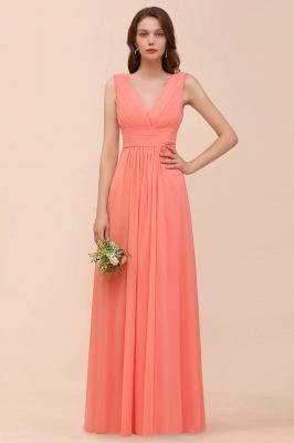 Orange Brautjungfernkleider | Hochzeitspartykleider Lang Günstig_1