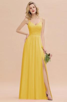 Abendkleider Lang Orange   Brautjungfernkleider Günstig_17