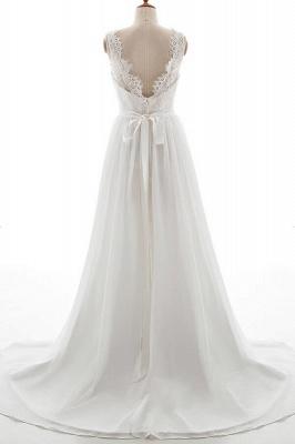 Schlichte Brautkleid mit Spitze | Hochzeitskleid A Linie_3