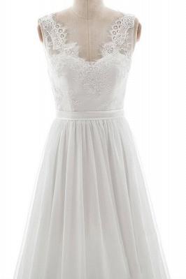 Schlichte Brautkleid mit Spitze | Hochzeitskleid A Linie_4