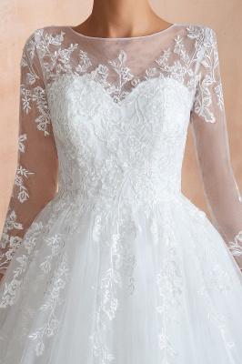 Modern Brautkleid Mit Ärmel   Standesamt Kleid Hochzeitskleider_9