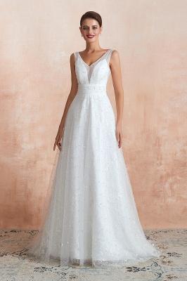 Schöne Hochzeitskleider A linie | Standesamt Brautkleid Tüll_5