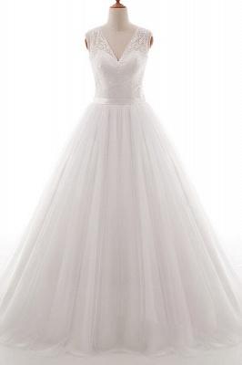 Weiße Brautkleid A Linie | Hochzeitskleider Mit Spitze_1