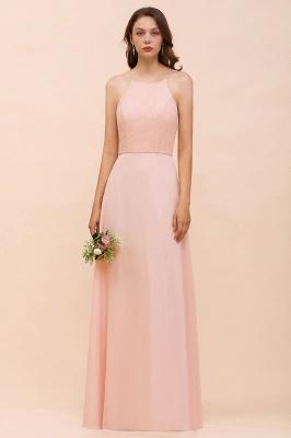 Schöne Brautjungfernkleider Lang Rosa | Hochzeitspartykleider Günstig_4