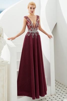 Schlichte Abendkleider Lang Rot | Abiballkleider Online_11