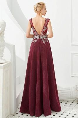 Schlichte Abendkleider Lang Rot | Abiballkleider Online_5