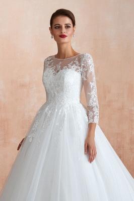Modern Brautkleid Mit Ärmel   Standesamt Kleid Hochzeitskleider_11