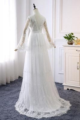 Elegante Hochzeitskleider mit Ärmel | Brautkleid Spitze Online_3
