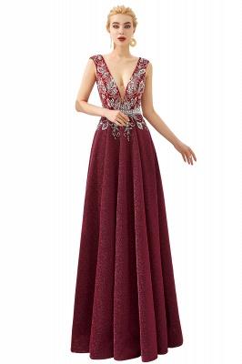 Schlichte Abendkleider Lang Rot | Abiballkleider Online_1